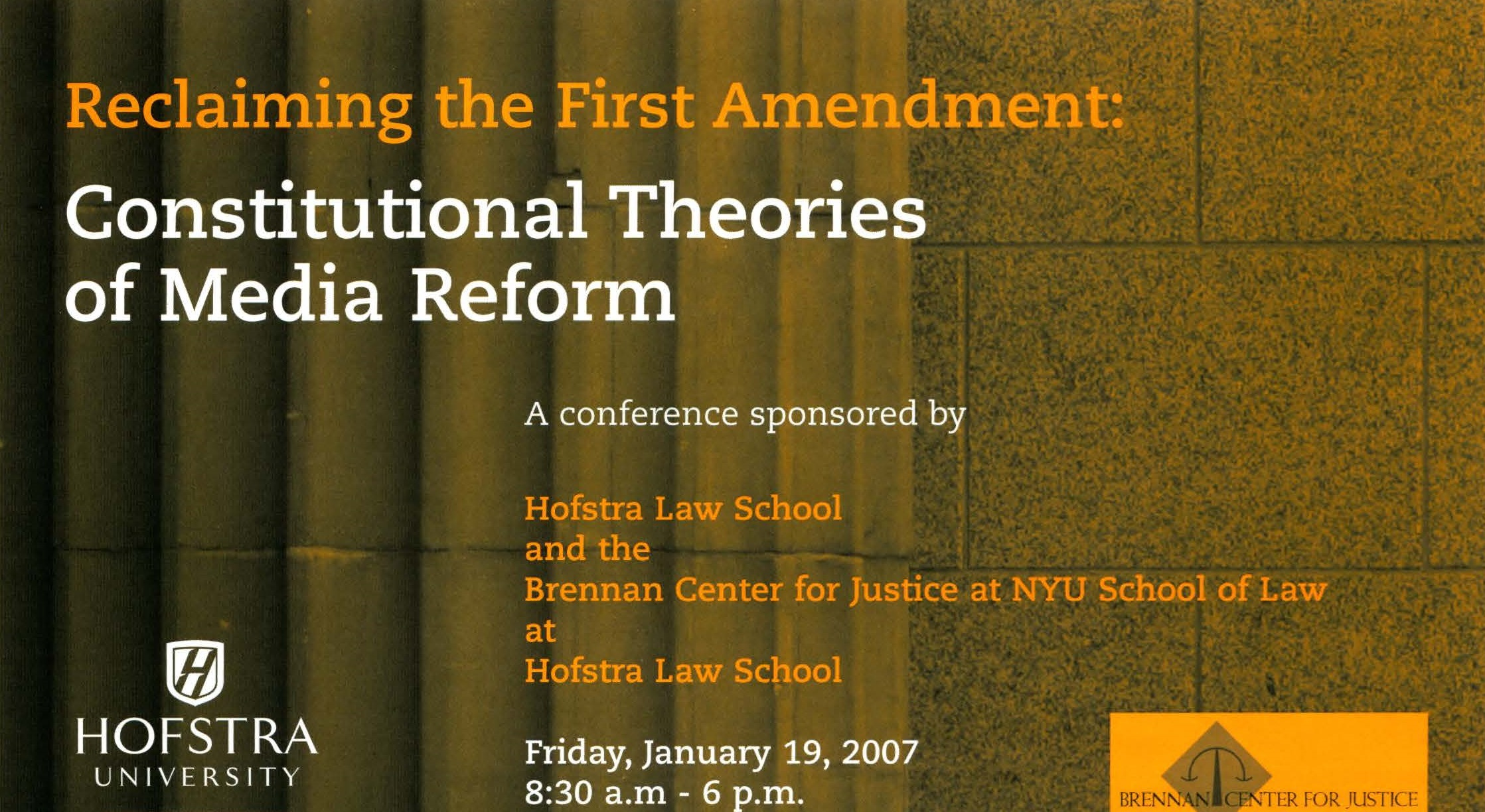 Reclaiming the First Amendment: Constitutional Theories of Media Reform (2007)