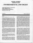 Hofstra Environmental Law Digest Vol.1, No. 1, Spring 1984 by Hofstra University School of Law