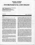 Hofstra Environmental Law Digest Vol.1, No. 1, Spring 1984 by Hofstra University School of Law