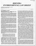 Hofstra Environmental Law Digest Vol.2, No. 1, Spring 1985