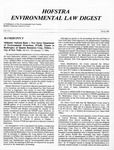 Hofstra Environmental Law Digest Vol. 3, No. 1, Spring 1986