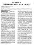 Hofstra Environmental Law Digest Vol. 4, No. 2, Fall 1987 by Hofstra University School of Law