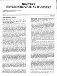 Hofstra Environmental Law Digest Vol. 5, No. 1, Spring 1988 by Hofstra University School of Law
