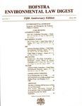 Hofstra Environmental Law Digest Vol. 6, No. 1, Spring 1989