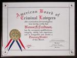 American Board of Criminal Lawyers Honorary Membership