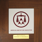 American Arbitration Association Plaque