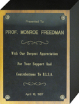 Black Law Students Association Appreciation Plaque