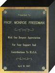 Black Law Students Association Appreciation Plaque