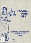 Pocket Part 1991 by Hofstra School of Law and Joe DeProcida Ed.
