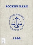 Pocket Part 1992